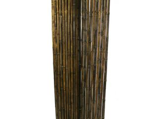 Natural Black  Black Bamboo Yard Fencing 6 ft  H x 8 ft  l x 1 in D  Retail 169 49