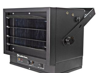 Comfort Zone Industrial Fan Heaters Electric Furnace with Wide Air Distribution  Black