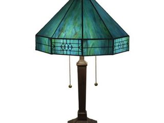 Turquoise Tiffany style Table lamp  Retail 136 99