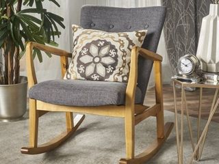 Callum Mid Century Fabric Rocking Chair by Christopher Knight Home  Retail 209 99