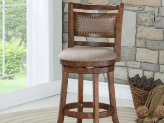 Aberdeen Dark Brown 24 inch Counter Stool with Fabric Seat  Retail 165 99