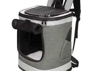 Jespet Traveling Dog Carrier Backpack  Gray  Small