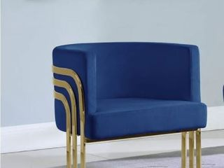 Navy Blue  Best Quality Furniture Accent Chairs with Gold Base  Single  Retail 338 99