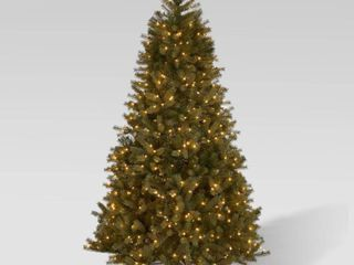 7 Foot Mixed Spruce Pre lit String light or Unlit Hinged Artificial Christmas Tree by Christopher Knight Home  Retail 273 99