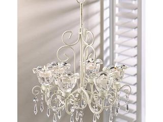 Elaborate Crystal   Candle Hanging Chandelier  Retail 96 99