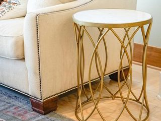 Gold Norwich Side Table Retail  186 99