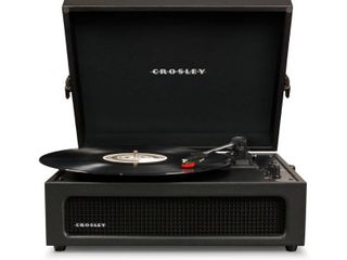 Black Voyager Turntable Record Player