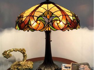 lamp  Chloe Tiffany style Victorian Bronze Base Table lamp  Retail 162 99