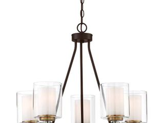 Studio 5 Painted Bronze W Natural Brush Chandelier by Minka lavery  Retail 359 95
