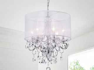Nereus 6 light Candle Style Chandelier  Chrome  Retail 161 49