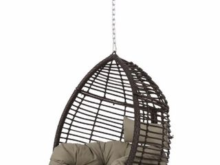 Multi Brown   Khaki  Adan Wicker Hanging Chair by Christopher Knight Home  Retail 269 99