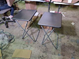 Pair of Black and Grey TV Trays