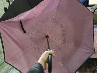 Pink and Black Inverted Umbrella