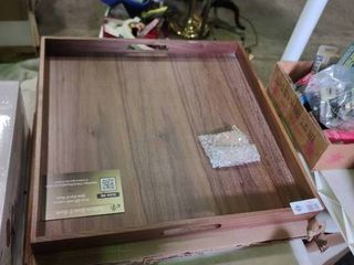 Black Walnut Serving Tray with Coasters