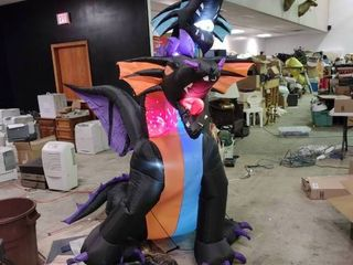 2 Headed light Up Inflatable Dragon