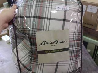King Sized Plaid Eddie Bauer Comforter Set