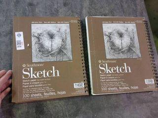 lot of 2 100 Sheet Sketch Books
