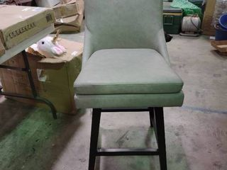 Contemporary High Back Swivel Seat Counter Stool