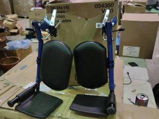 Blue Wheelchair leg Rests
