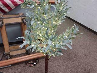 4ft lighted Olive Tree Decoration
