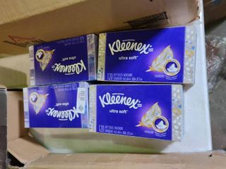 lot of 4 Boxes of Kleenex