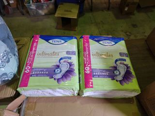 2 Packages of 45 Count Tena Intimates Overnight Pads