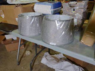 Pair of Grey lamp Shades