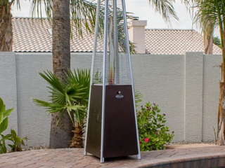 New inbox Patio tower heater high dollar item as pictures last one