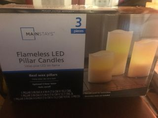 Set of lED candles as pictures