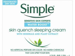 Unscented Simple Water Boost Sleeping Cream   1 7oz
