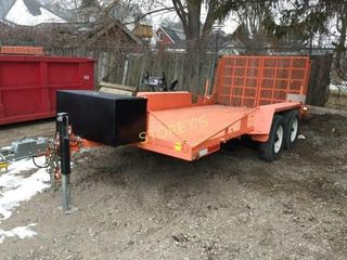 Tandem Axle Flat Bed Trailer w