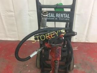 60lbs Air Jack Hammer w  Cart   2 Bits
