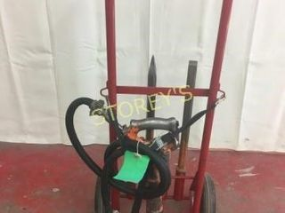 30lbs Air Jack Hammer w  Cart   2 Bits