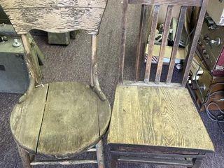(2) Wooden Kitchen Chairs