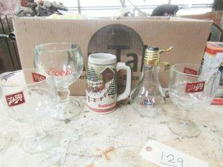 5 Assorted Beer Glasses