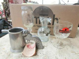 Assorted glasses and cups