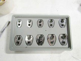 Gearwrench crowfoot wrench set Metric 10 thru 19