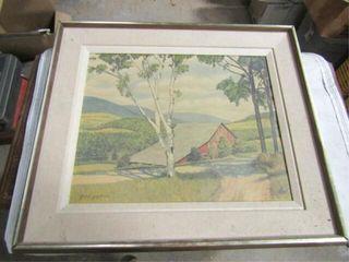 Sunny Valley Print Farm Scene print by Gene Pelham
