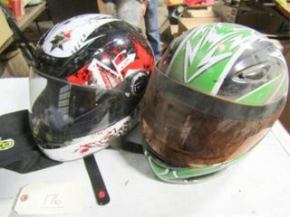 2 ea Full face Motorcycle helmets with 1 cover