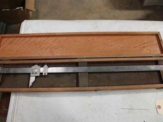 Starrett 24IJ Calipers in wood box