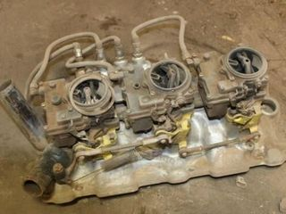Chevy Small block intake with three Duces