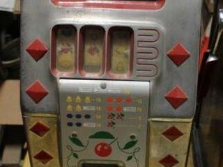 Antique Diamond Front Buckley Mills Slot Machine