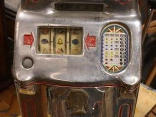 1950IJs OD Jennings TAC TIC TOE Slot Machine