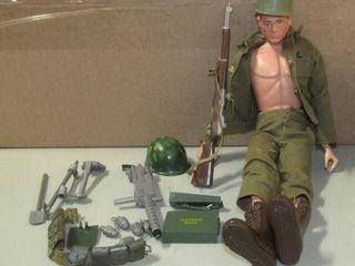 Vintage GI Joe Doll and Accessories