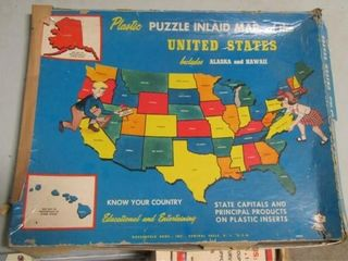 1975 Hassenfield United States Puzzle