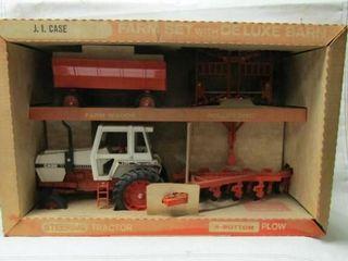 ERTl J I  Case Farm Set with Deluxe Barn