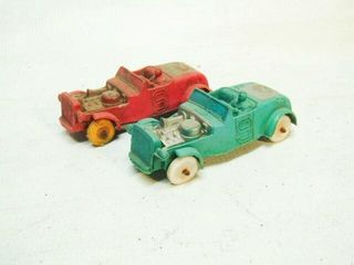 Vintage Auburn Rubber Toy Cars