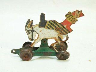 Vintage Donkey Clown pull toy
