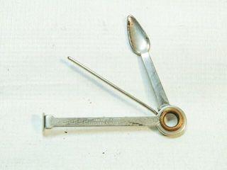 Vintage Czechoslovakia Metal Snuff Spoon Gadget