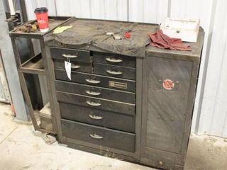 John Deere Tool Box On wheels 9   drawers